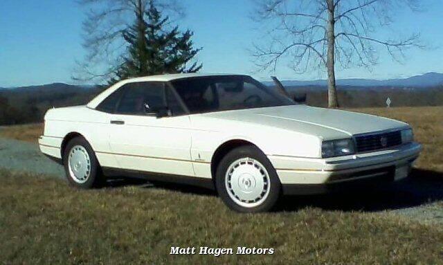 1989 Cadillac Allante for sale at Matt Hagen Motors in Newport NC