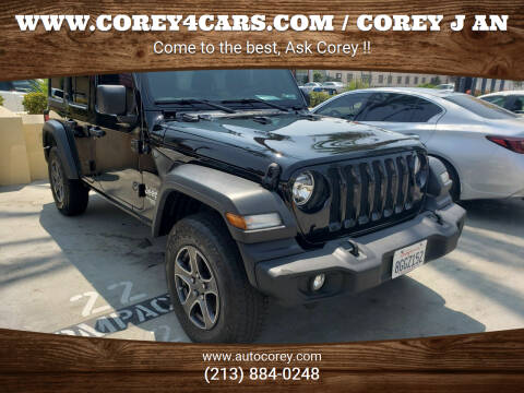 2018 Jeep Wrangler Unlimited for sale at WWW.COREY4CARS.COM / COREY J AN in Los Angeles CA