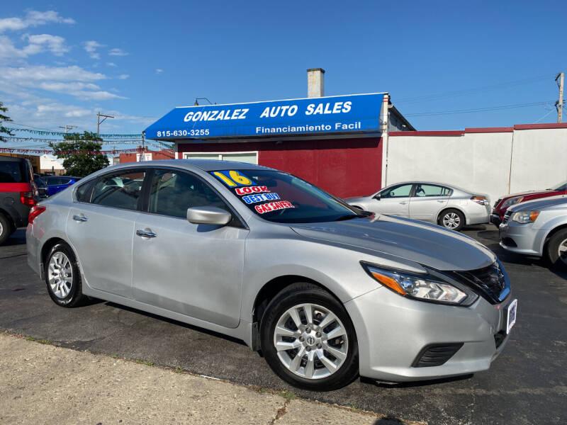 2016 Nissan Altima for sale at Gonzalez Auto Sales in Joliet IL