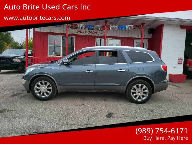 2012 Buick Enclave for sale at Auto Brite Used Cars Inc in Saginaw MI