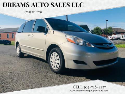 2010 Toyota Sienna for sale at Dreams Auto Sales LLC in Leesburg VA