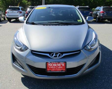 2015 Hyundai Elantra for sale at Norm's Used Cars INC. in Wiscasset ME