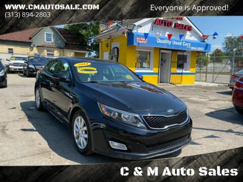 2014 Kia Optima for sale at C & M Auto Sales in Detroit MI