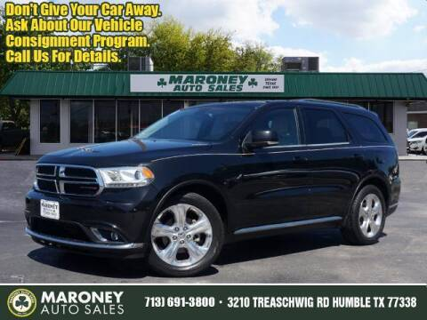 2015 Dodge Durango for sale at Maroney Auto Sales in Humble TX