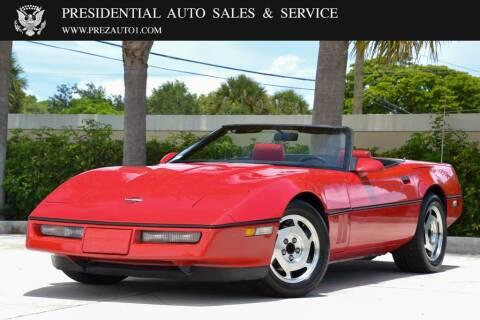 1988 Chevrolet Corvette for sale at Presidential Auto  Sales & Service in Delray Beach FL
