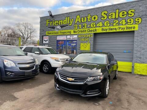 2017 Chevrolet Impala for sale at Friendly Auto Sales in Detroit MI