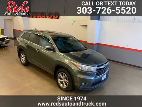 2015 Toyota Highlander for sale at Red's Auto and Truck in Longmont CO
