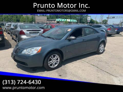 2006 Pontiac G6 for sale at Prunto Motor Inc. in Dearborn MI