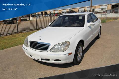 2001 Mercedes-Benz S-Class for sale at Highland Autoplex, LLC in Dallas TX