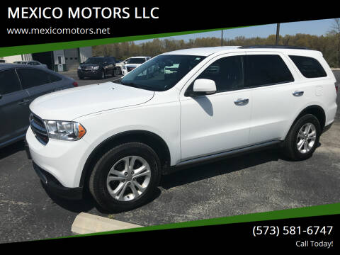 2013 Dodge Durango for sale at MEXICO MOTORS LLC in Mexico MO