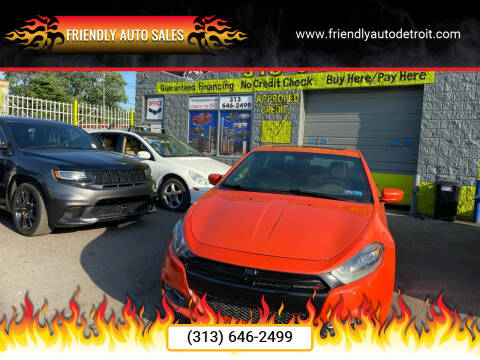 2015 Dodge Dart for sale at Friendly Auto Sales in Detroit MI