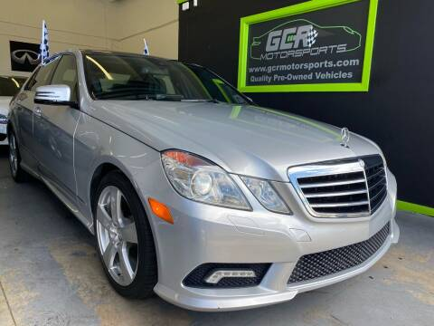 2011 Mercedes-Benz E-Class for sale at GCR MOTORSPORTS in Hollywood FL