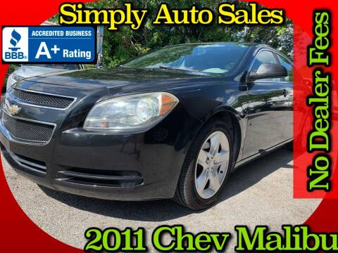2011 Chevrolet Malibu for sale at Simply Auto Sales in Palm Beach Gardens FL