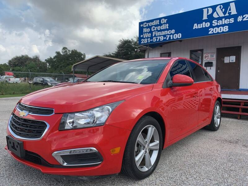 2015 Chevrolet Cruze for sale at P & A AUTO SALES in Houston TX