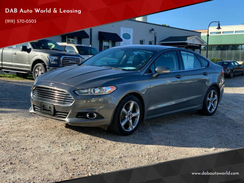 2013 Ford Fusion for sale at DAB Auto World & Leasing in Wake Forest NC