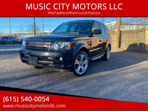 2012 Land Rover Range Rover Sport for sale at MUSIC CITY MOTORS LLC in Nashville TN