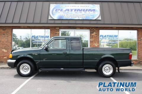 2002 Ford Ranger for sale at Platinum Auto World in Fredericksburg VA