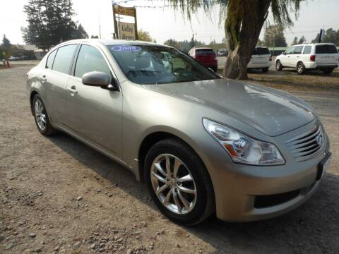 2008 Infiniti G35 for sale at VALLEY MOTORS in Kalispell MT