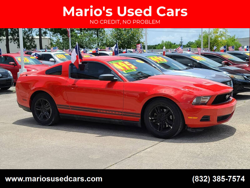 2011 Ford Mustang for sale at Mario's Used Cars in Houston TX