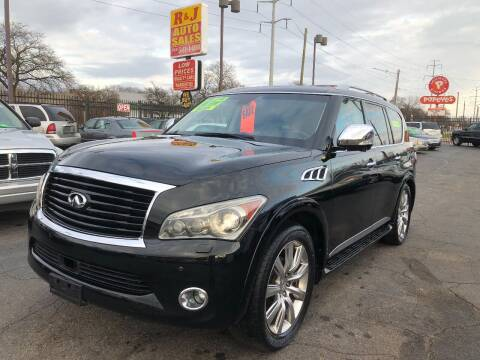 2011 Infiniti QX56 for sale at RJ AUTO SALES in Detroit MI