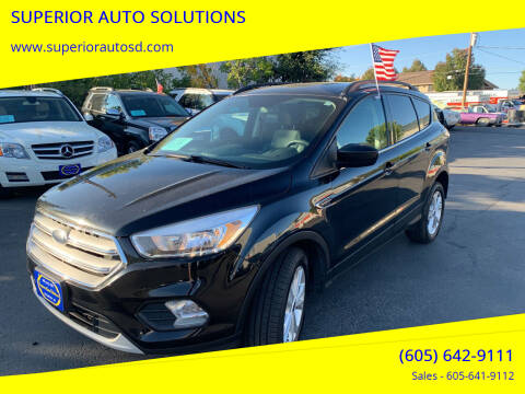 2018 Ford Escape for sale at SUPERIOR AUTO SOLUTIONS in Spearfish SD