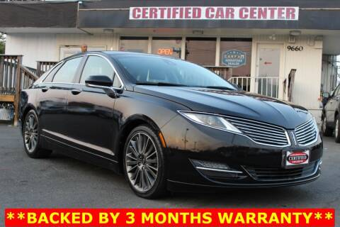 2013 Lincoln MKZ for sale at CERTIFIED CAR CENTER in Fairfax VA