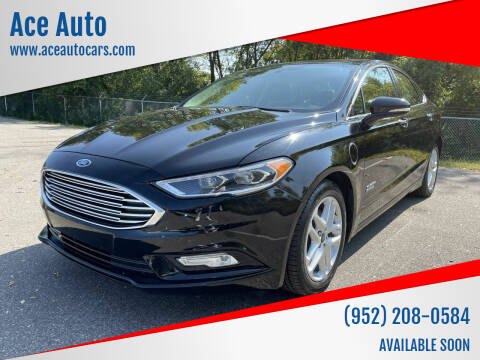 2018 Ford Fusion Energi for sale at Ace Auto in Jordan MN