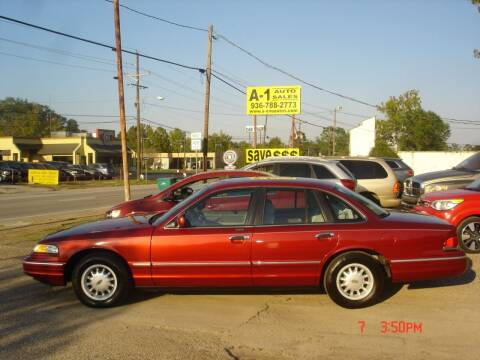 1996 Ford Crown Victoria for sale at A-1 Auto Sales in Conroe TX