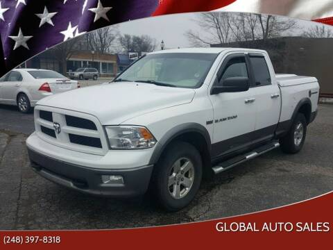 2011 RAM Ram Pickup 1500 for sale at Global Auto Sales in Hazel Park MI
