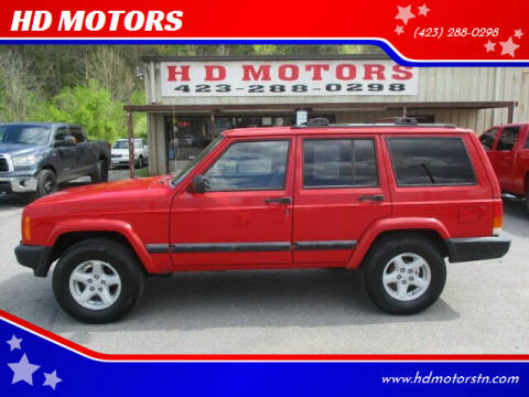 1999 Jeep Cherokee for sale at HD MOTORS in Kingsport TN