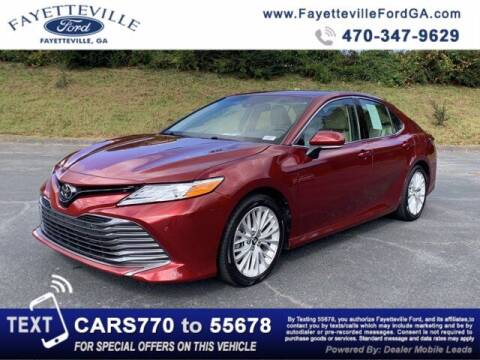 2018 Toyota Camry for sale at FAYETTEVILLEFORDFLEETSALES.COM in Fayetteville GA
