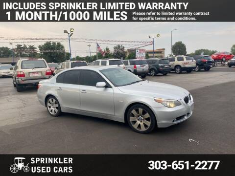 2007 BMW 5 Series for sale at Sprinkler Used Cars in Longmont CO