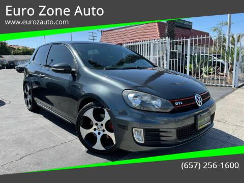 2011 Volkswagen GTI for sale at Euro Zone Auto in Stanton CA