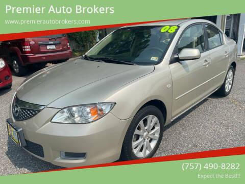 2008 Mazda MAZDA3 for sale at Premier Auto Brokers in Virginia Beach VA