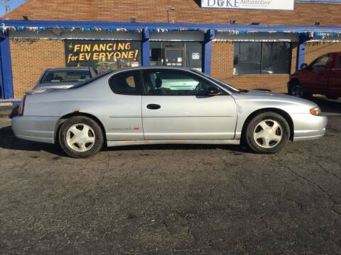 2002 Chevrolet Monte Carlo for sale at Duke Automotive Group in Cincinnati OH
