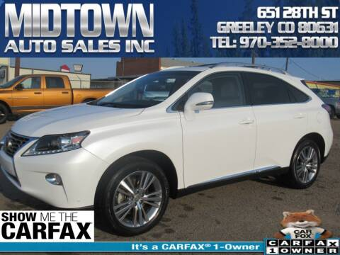 2015 Lexus RX 350 for sale at MIDTOWN AUTO SALES INC in Greeley CO