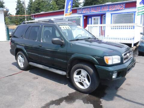 2002 Nissan Pathfinder for sale at 777 Auto Sales and Service in Tacoma WA