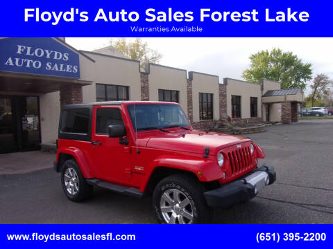 2015 Jeep Wrangler for sale at Floyd's Auto Sales Forest Lake in Forest Lake MN