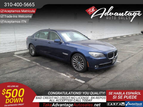 2012 BMW 7 Series for sale at ADVANTAGE AUTO SALES INC in Bell CA