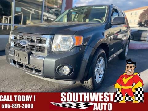 2008 Ford Escape Hybrid for sale at SOUTHWEST AUTO in Albuquerque NM