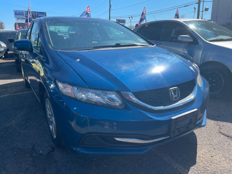 2014 Honda Civic for sale at GRAND USED CARS  INC in Little Ferry NJ