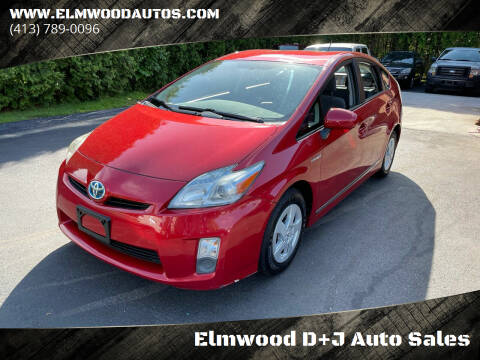 2010 Toyota Prius for sale at Elmwood D+J Auto Sales in Agawam MA