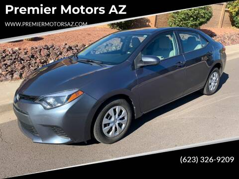 2014 Toyota Corolla for sale at Premier Motors AZ in Phoenix AZ