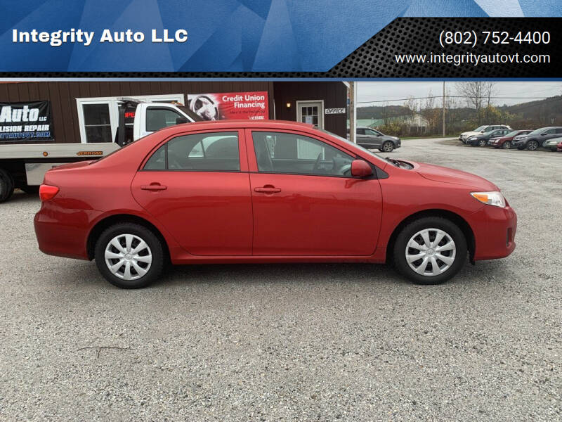 2013 Toyota Corolla for sale at Integrity Auto LLC in Sheldon VT