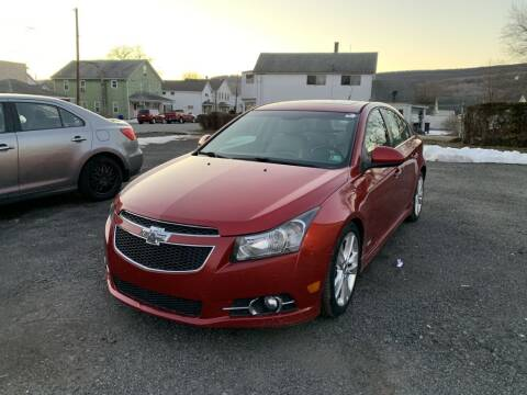 2012 Chevrolet Cruze for sale at VINNY AUTO SALE in Duryea PA