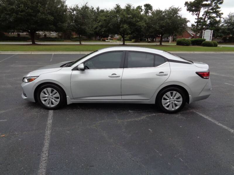 2021 Nissan Sentra for sale at BALKCUM AUTO INC in Wilmington NC