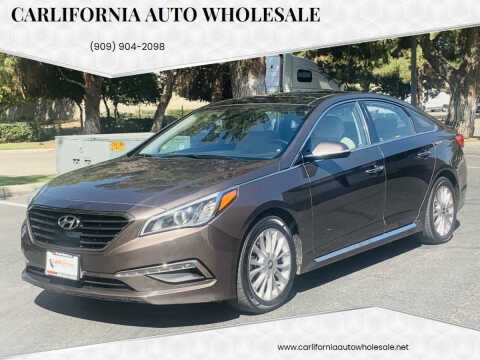 2015 Hyundai Sonata for sale at CARLIFORNIA AUTO WHOLESALE in San Bernardino CA