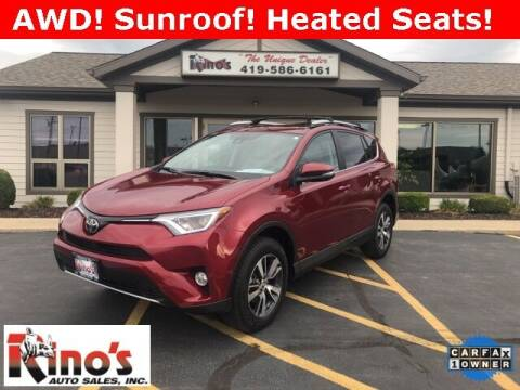 2018 Toyota RAV4 for sale at Rino's Auto Sales in Celina OH