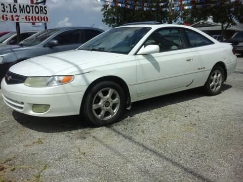 1999 Toyota Camry Solara for sale at John 3:16 Motors in San Antonio TX