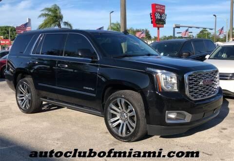 2018 GMC Yukon for sale at AUTO CLUB OF MIAMI, INC in Miami FL